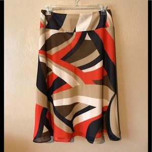 JCBC by Chaus colorful skirt size 24W, polyester